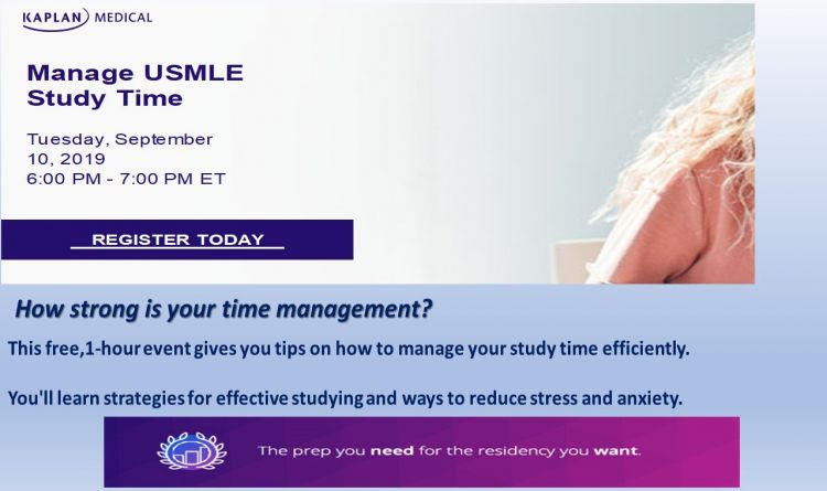Manage Usmle Study Time