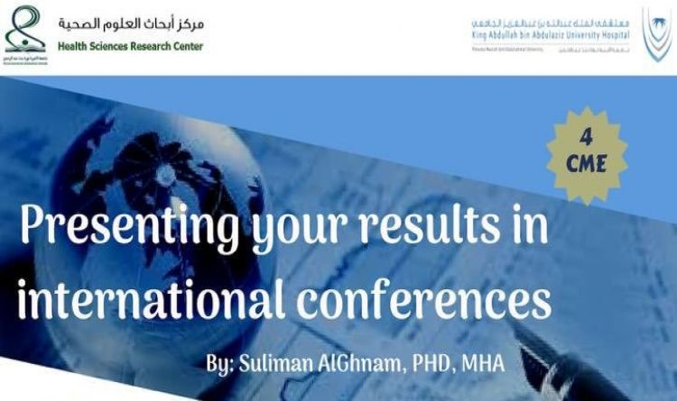 Presenting your results in international conferences