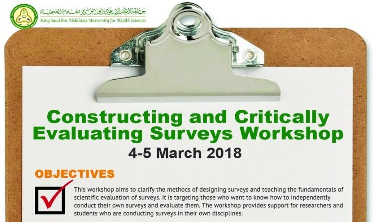 Constructing and Critically Evaluating Surveys Workshop