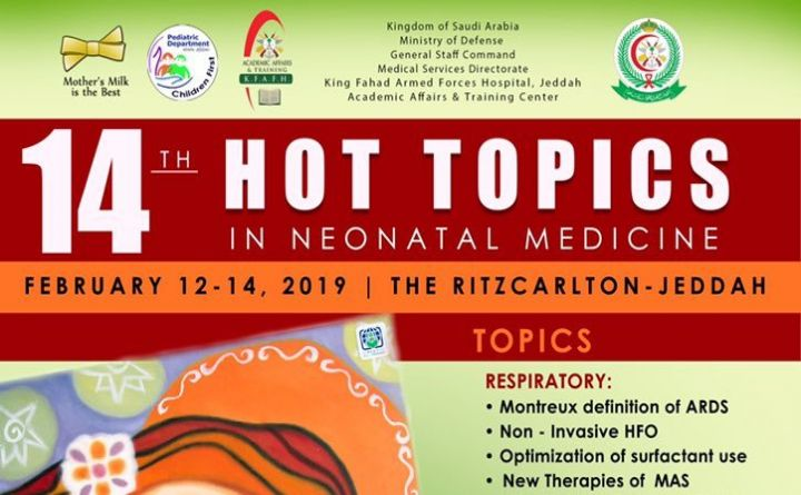 14TH Hot Topics In Neonatal Medicine