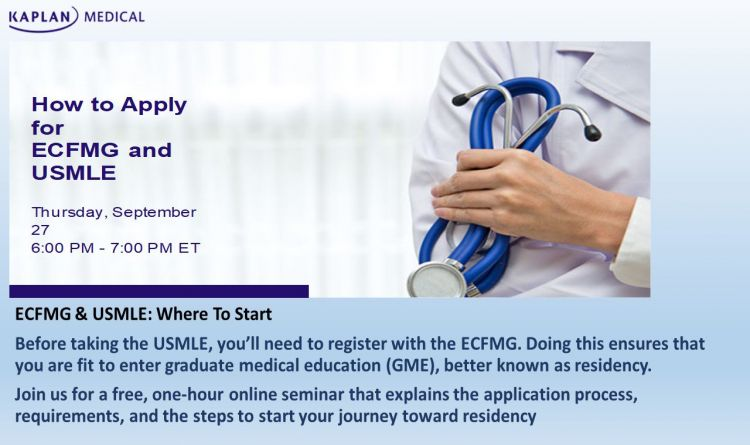 How to Apply for ECFMG and USMLE
