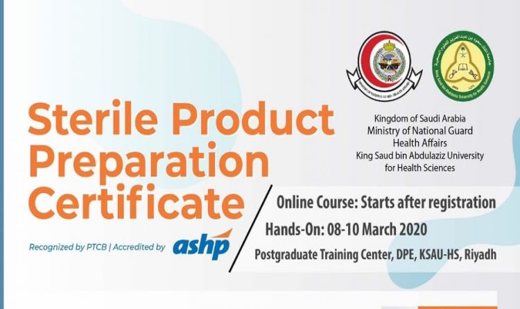 Sterile Product Preparation Certificate
