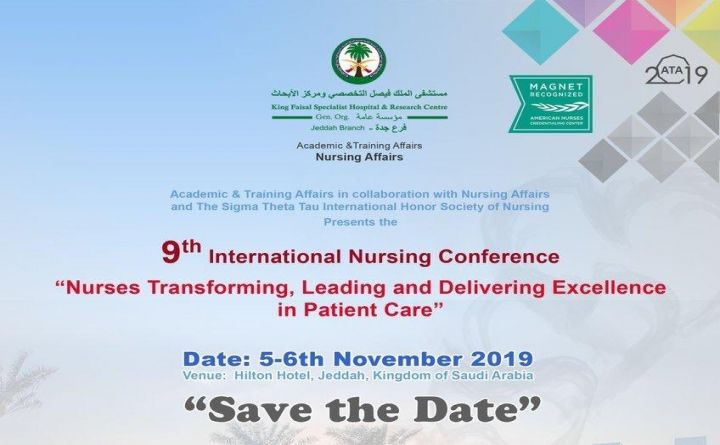 "9th International Nursing Conference  "" Nurses Transforming , Leading and Delivering Excellence in Patient Care &a"