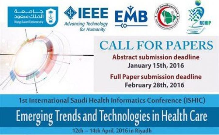 1st International Saudi Health Informatics Conference (ISHIC)