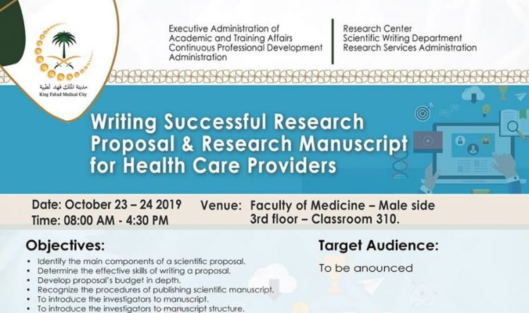 Writing Successful Research Proposal & Research Manuscript for Health Care Providers