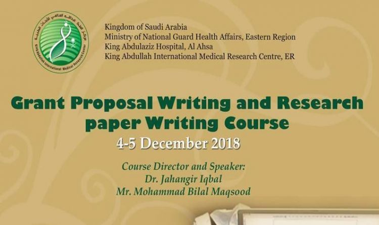 Grant Proposal Writing and Research paper writing course