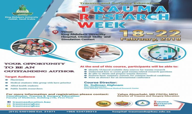 TRAUMA RESEARCH WEEK