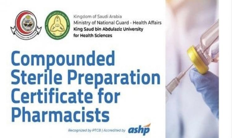 Compounded Sterile Preparation Certificate For Pharmacists